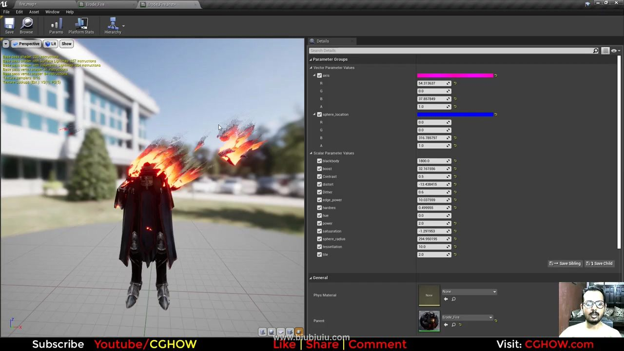 Firy Dissolve Effect in Unreal Engine Material Editor.mp4_20200810_114152.295.jpg
